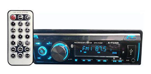 Radio carro x-fider 3750bt usb bluetooth aux fm pasacintas