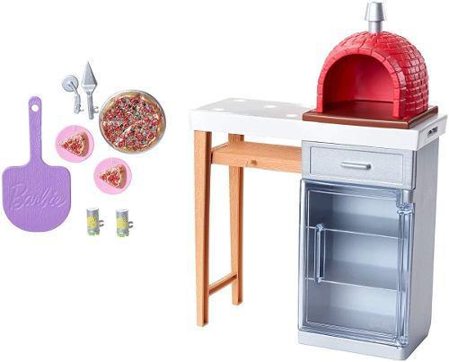 Barbie accesorios horno de pizza muñecas muebles de