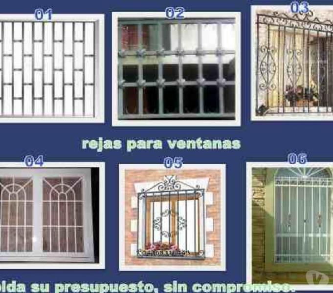 FABRICACIÓN DE REJAS METÁLICAS DE SEGURIDAD PARA ESPACIOS