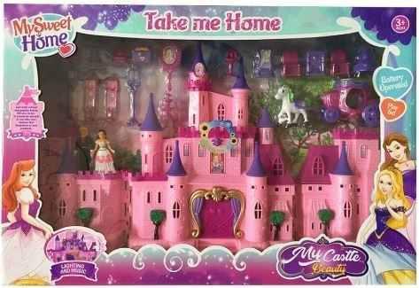 Juguete Castillo Muñecas Y Accesorios Beauty Castle Luces