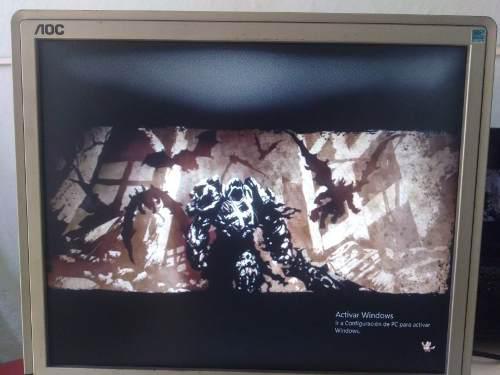 Monitor Aoc Led Para Computadora Con Neblina En La Pantalla