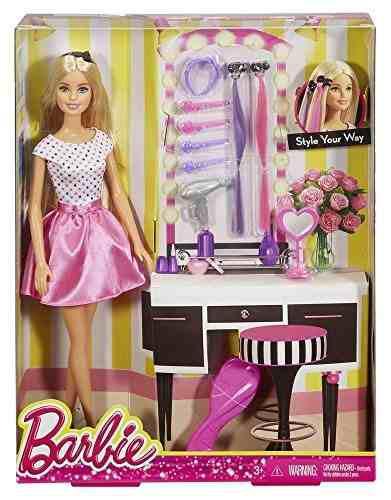 Muñeca Barbie Con Accesorio Para El Pelo.