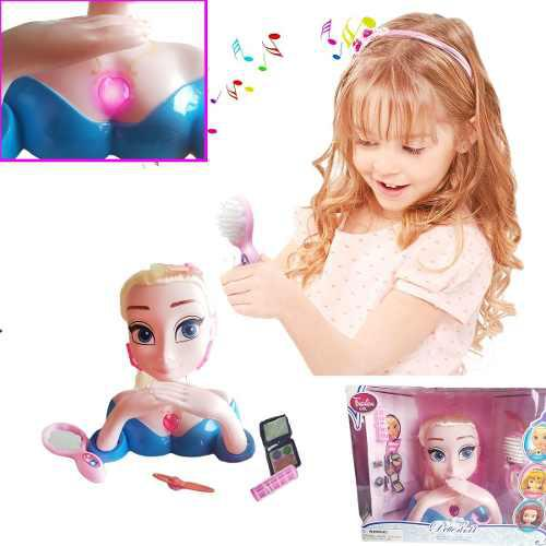 Muñeca peinados accesorios niñas juguete jugueteria