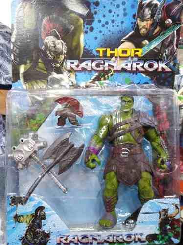 Muñeco De Hulk Ragnarock Avenger Articulado Con Accesorios