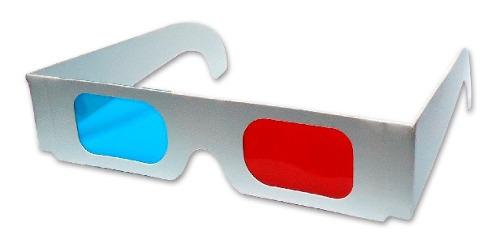 Gafas 3d Anaglifas De Cartón Rojo/cyan Cine En Casa