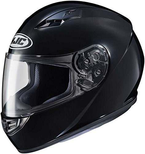 Hjc solido adulto csr3 calle casco de motocicleta color negr