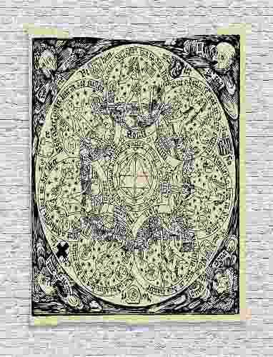 Tapiz De Astrología, Serie De Mapa Antiguo Esotérico...