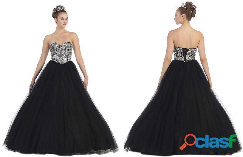 Alquila tu Vestido de quince años en colores de moda negro | 15 años