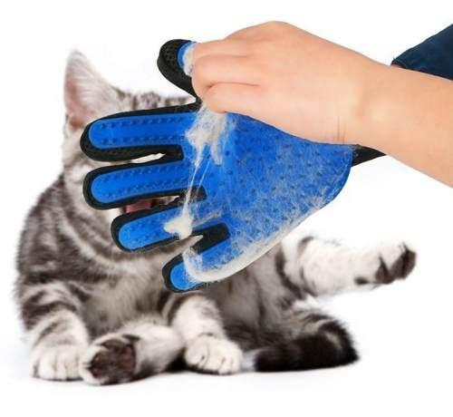 Guante cepillo perros y gatos 5 dedos true touch
