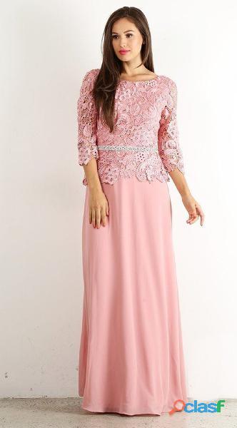 Alquiler de vestidos de mujer para fiesta en color palo de rosa //
