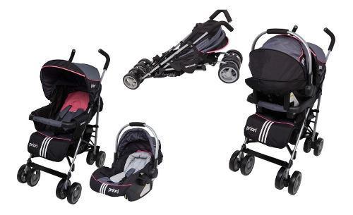Coche bebe priori avenue 4 x 1 negro y rosado niños niñas