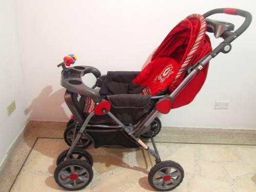 Coche Para Bebé Priori Rojo Y Accesorios Fisher Price