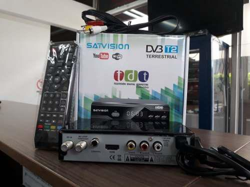 Decodificador tdt 2 - dvb t2 - marca satvision