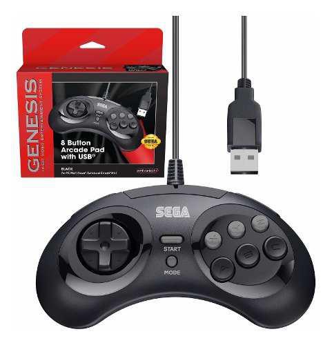 Arcade pad oficial de sega genesis usb controller de 8...