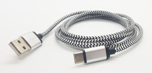 Cable tipo c mallado excelente calidad samsung htc huawei