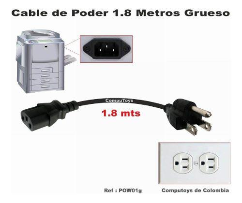 Zpow01g cable poder grueso de mejor calidad 1,8m computoys