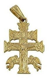 Angelitos mexico the cross caravaca gold plated charm dije