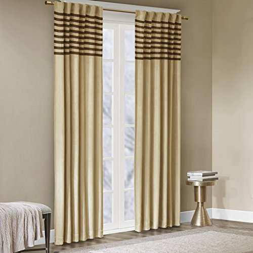 Madison park cortinas de color beige para la sala de estar c
