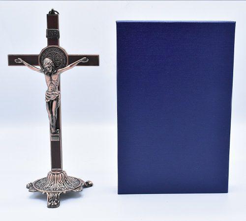 Medalla crucifijo de san benito para mesa envío gratis
