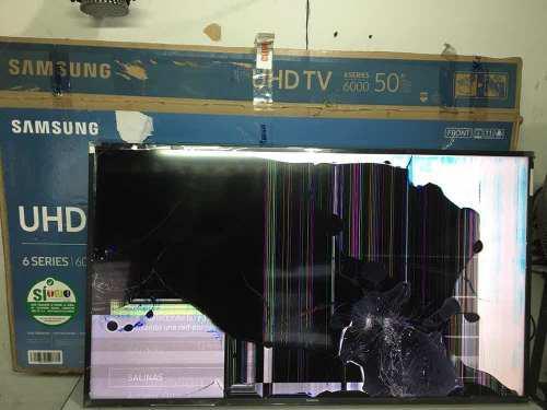 Tv samsung de 50 un50ku6000k pantalla rota repuestos