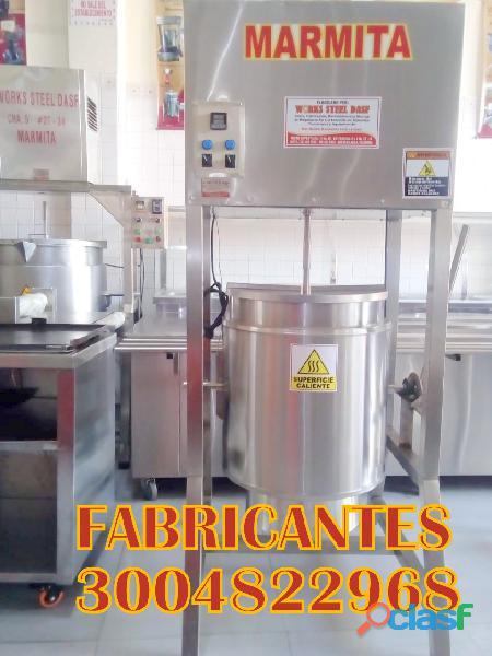 Marmitas, clasificadora para huevos, despulpadora para frutas, molino granos, seleccionadora de papa