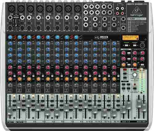 Mixer behringer qx2222usb efectos klark teknik compresor