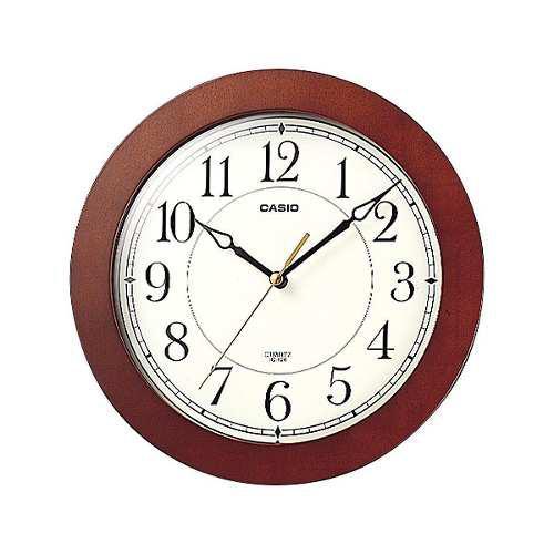 Reloj pared casio iq126 silencioso marcomadera 100% original