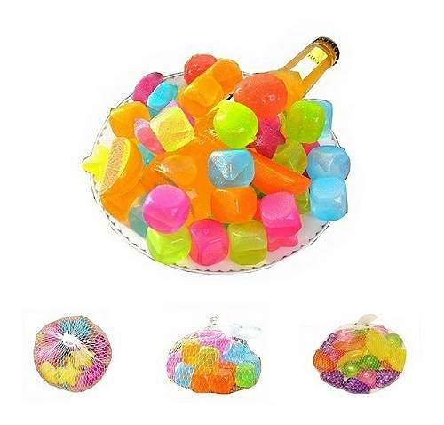 Hielos frutas para congelar cubos plasticos bebidas vaso x12