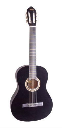 Kit guitarra clasica 3/4 black, with bag and clip-on tuner v