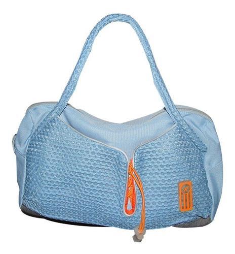Bolso cartera de mano deportivo para mujer liviano turquesa.