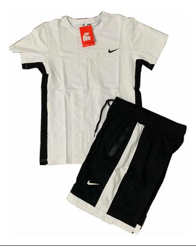 Conjunto camiseta pantaloneta en algodón para hombre nike