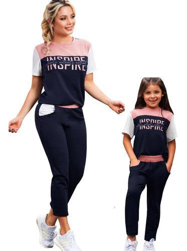 Dos conjuntos deportivos blusa y jogger sudadera mama e hija