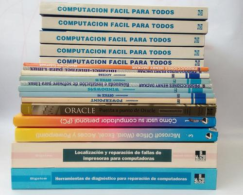 Lote de 18 libros de informática leer descripción