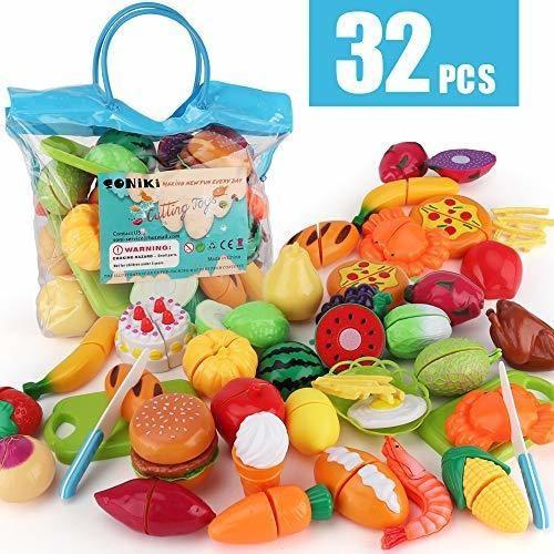 Soniki juguetes de comida frutas vegetales juego educativo p