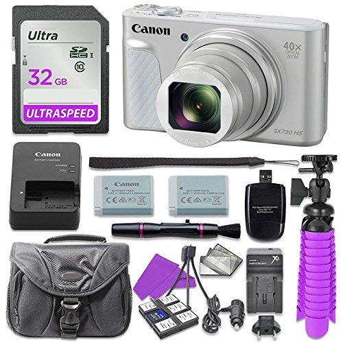 Cámara digital canon powershot sx730 con tarjeta memoria sd