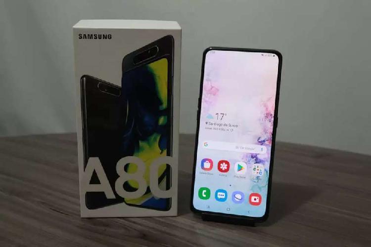 Samsung galaxy a80 duos 128gb y 8gb ram con caja precio fijo