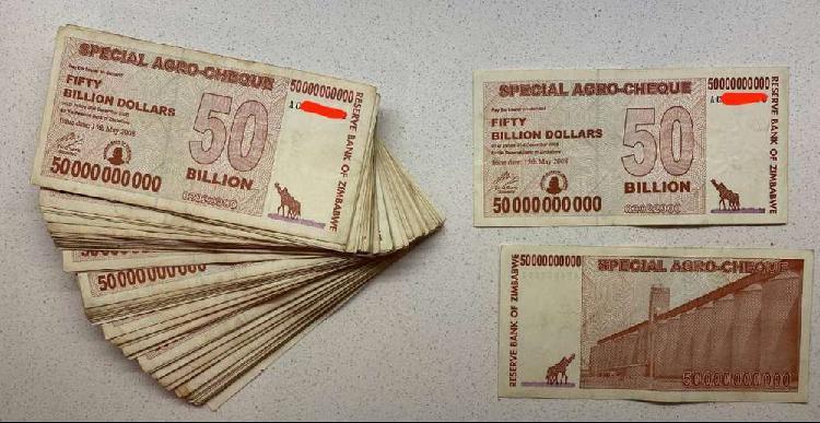 Zimbabwe 2008 - 50 billion agro-cheque