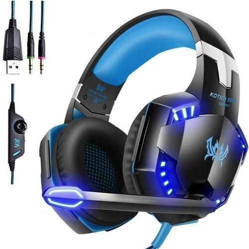 Diadema gamer g2000 pc xbox ps4 audifonos gama alta la mejor