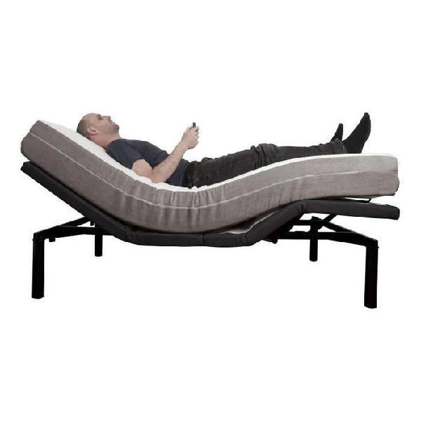 Cama doble ajustable eléctrica con colchón reclinable