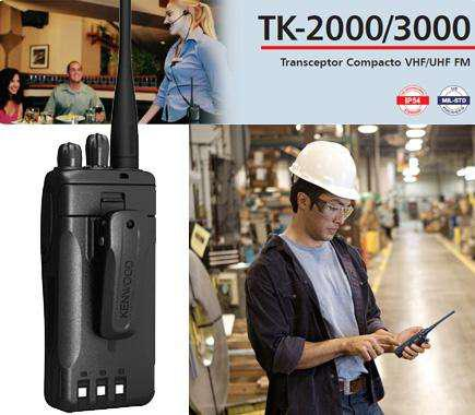 Kenwood tk3000/tk2000 originales 5 vatios 16 canales
