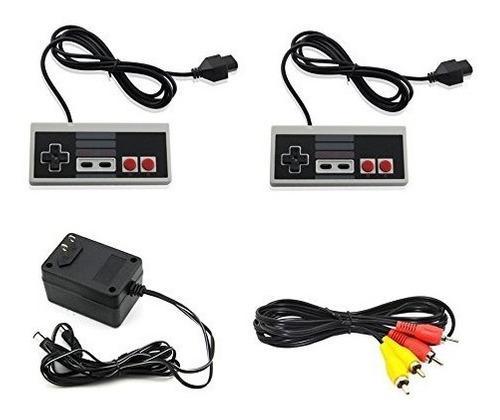 Nintendo nes ac adaptador av adaptador 2 controladores