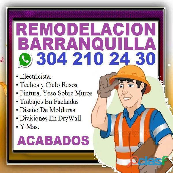 ⭐ barranquilla, maestro de obra, albañil, electricista, pintor, cielo raso, pvc, drywall, superboard