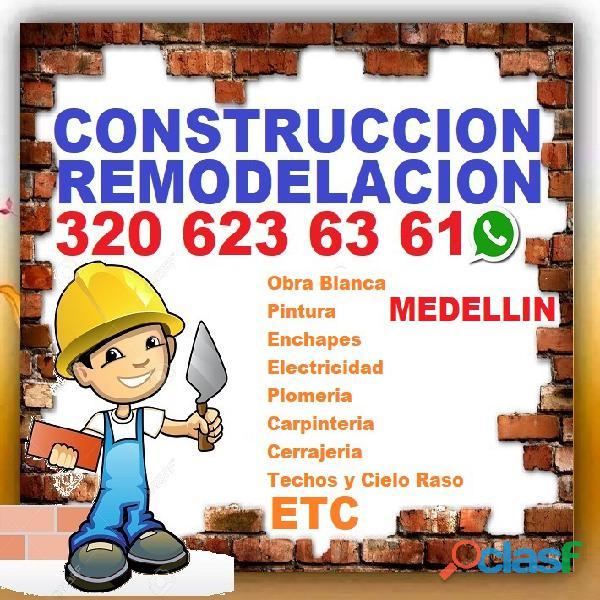 ⭐ medellin, albañil, maestro de obra, plomero, enchapador, pintor, electricista, cielo raso, drywall
