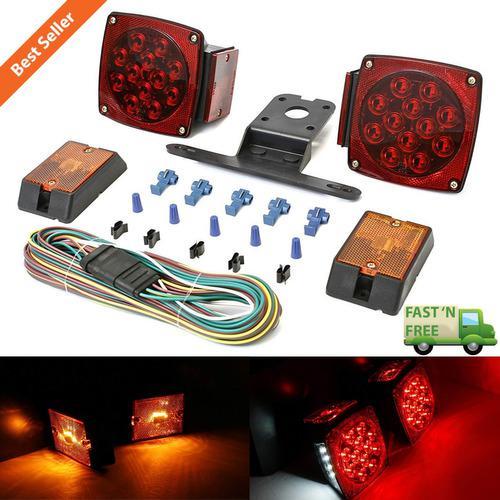Luces De Licencia Para Camiones Utilitarios, Rojo / Blanco,