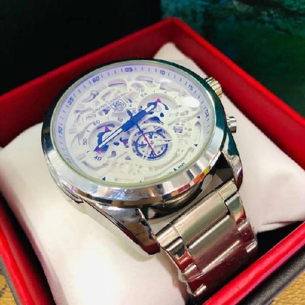 Relojes tag heuer plateado funcional envio gratis