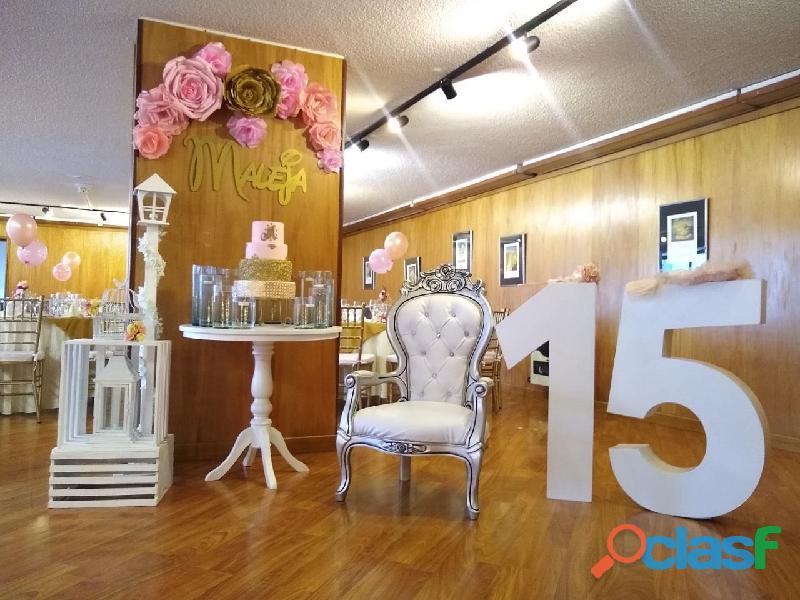 Alquiler de mobiliario y decoración de eventos