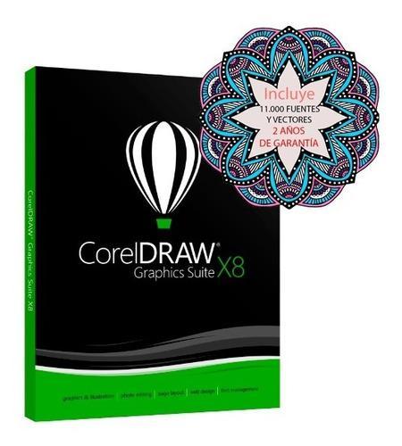 Corel draw x8 full 2019 - envio gratis inmediato