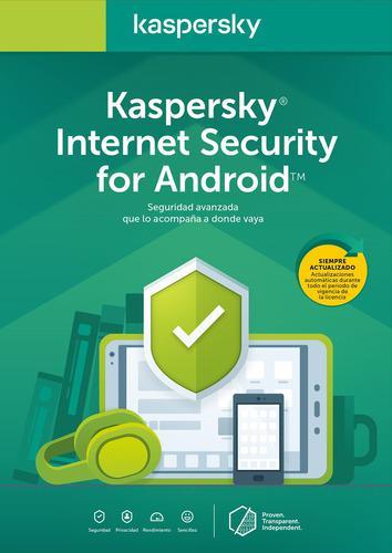 Licencia kaspersky internet security cel/tablet 1 movil