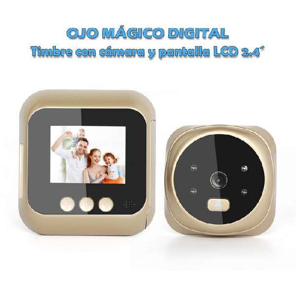 Ojo mágico digital timbre con cámara y pantalla lcd 2.4