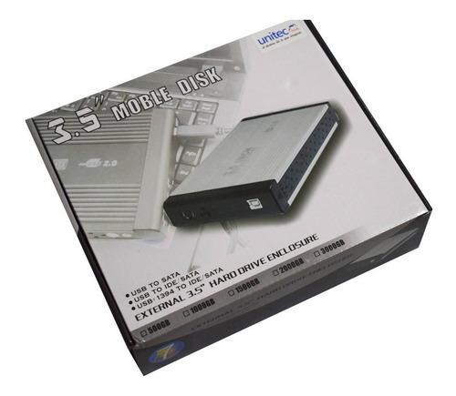 Caja Externa Extraíble Portátil Para Hdd Disco Duro 3.5